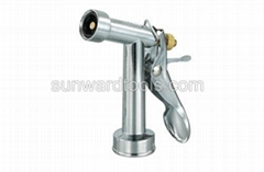 "4-1/2"" metal spray gun with brass stem"
