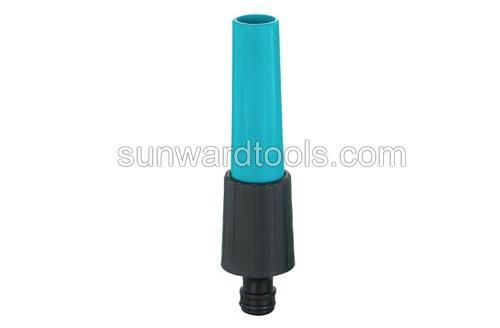 Plastic adjustable spray gun with snap-on connector 1