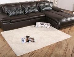 Modern Round Area Rug Shaggy Faux Fur Home Floor Mat Living Room Bedroom Carpet