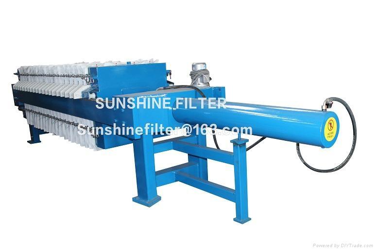 Fast open filter press