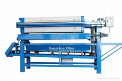 with conveyor belt filter press