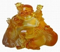 liuli crystal happiness buddha and five