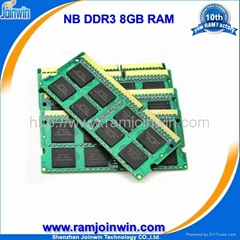 ddr3 8gb laptop memory with ETT original chips in stock