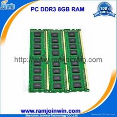 8gb ddr3 pc1600 ram module pc3-12800 for desktop