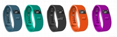 Colorful smart bluetooth bracelet watch wearable fitness technology