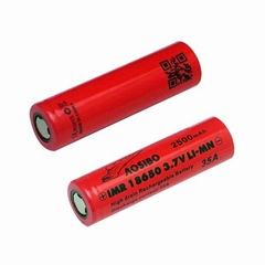 Aosibo IMR18650 2500mAh High Drain 35amp Lithium Rechargeable Battery