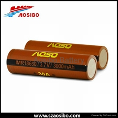 30AMP IMR 18650 Battery 3000mah 3.7v  Rechargeable li-ion Cell