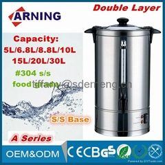 Kitchen Electrical Appliance Double Layers Stainless Steel Electric Water Boiler