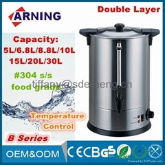 Kitchen Home Hotel Electric Stainless Steel Water Boiler Tea Kettle Water Urns