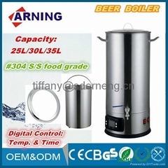 Electric Home Brew Stainless Steel Beer Boiler For Beer Brewery