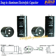 Power Capacitor Snap in Aluminum Electrolytic Capacitor for Power Inverter