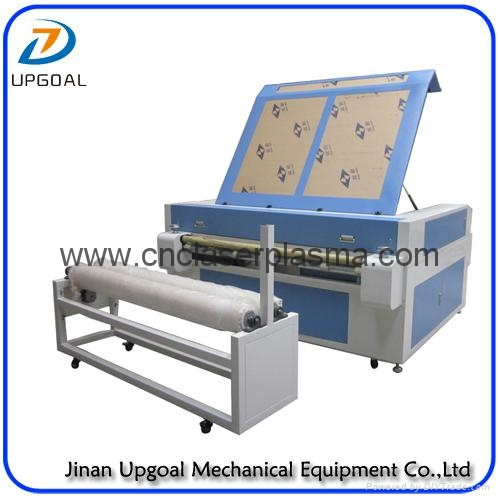 Double Heads 1600*1000mm Co2 Fabric Laser Cutting Machine