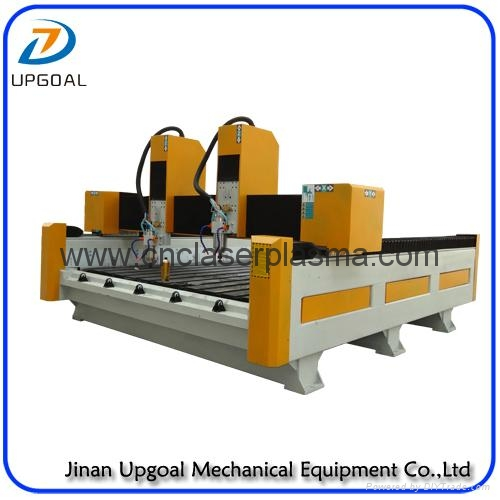 New  Double Z-axis Double Heads Stone CNC Carving Machine with Steel Table 5