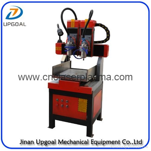 Double Heads 400*400mm Metal Wood Stone CNC Engraving Machine with DSP Control