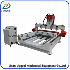 4 Spindles 4 Rotary Axis Cylinder Flat Wood Carving Machine with NK105 Control