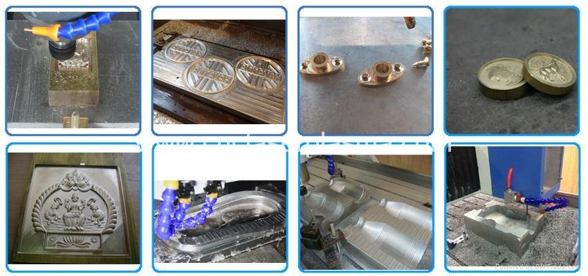 High Precision CNC Aluminum Engraving Machine with Hybrid Servo Motor/DSP Contro 10
