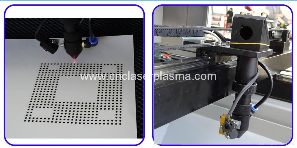 Co2 laser head with infrared positioning & auto focusing