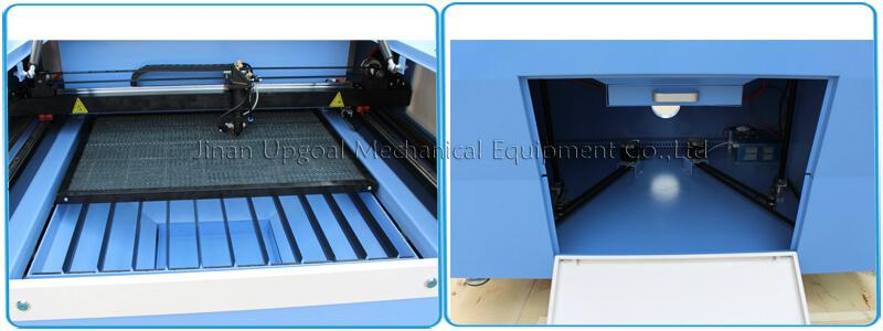 Double working table ( honey comb and knife strip) & auto lifting table