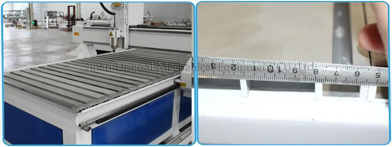 More thickness(3mm)  transverse aluminum T slot working table