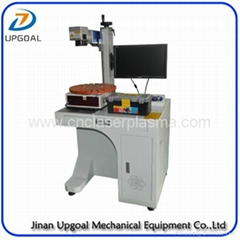 Metal Pen Fiber Laser Marking Machine with Disc Rotary 30W