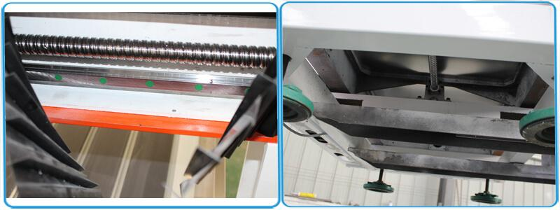 Hiwin linear square guide rail, and lead ball screw transmission