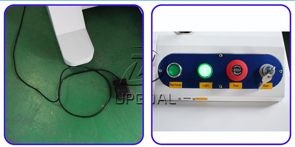 Foot pad and control switch