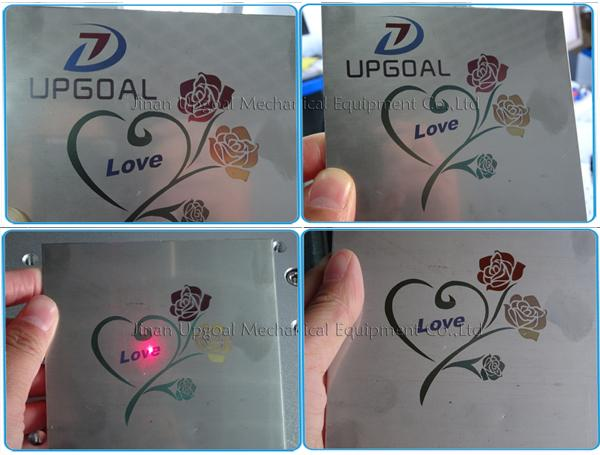 Stainless steel colorful marking