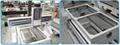 Cast iron machine bed & cast aluminum gantry