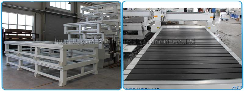Welded holder & tansverse aluminum T slot working table