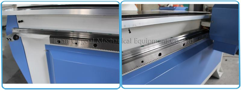 Linear square guide rail, Hiwin, Taiwan  & Helical rack pinion transmission for XY-axis, lead ball screw transmission for Z-axis