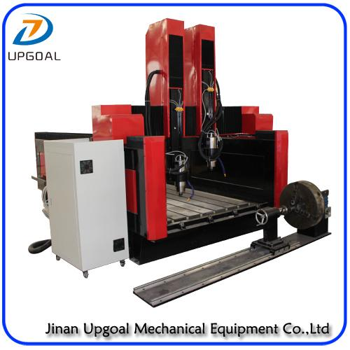 New  Double Z-axis Double Heads Stone CNC Carving Machine with Steel Table 17