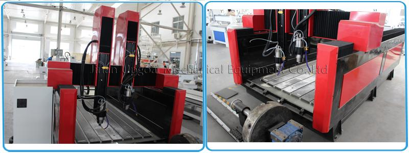 4 Axis Double Z-axis Marble Stone Engraving Carving Machine  8