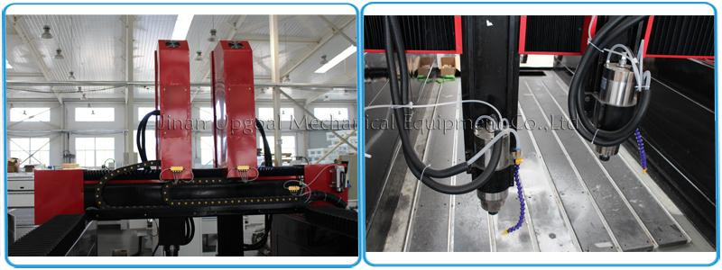 4 Axis Double Z-axis Marble Stone Engraving Carving Machine  9
