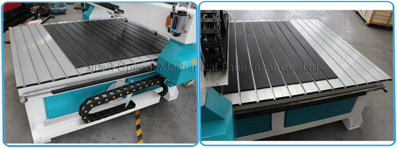Transverse aluminum alloy T slot working table