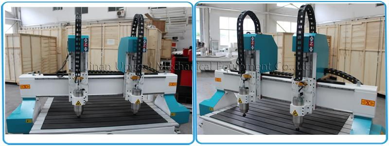 Dual independent Z-axis with 3.2kw water cooling spindle