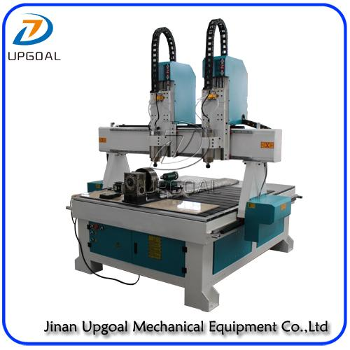 4 Axis Two Heads CNC Wood Carving Machine with DSP Offline Control