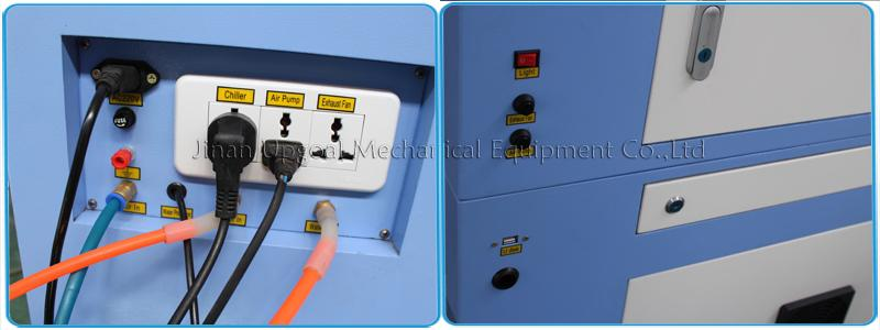 Power socket & swtiches of light/air blower/pump & USB port