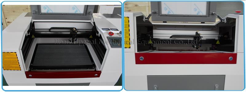 Co2 laser head with auto lifting sensor & infrared positioning, honey comb working table
