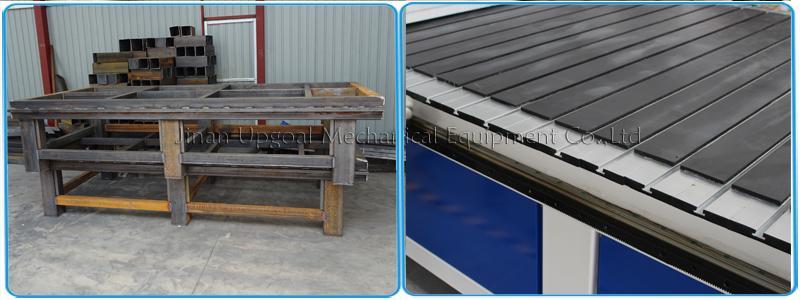 Welded square steel tube holder & transverse aluminum alloy T slot working table