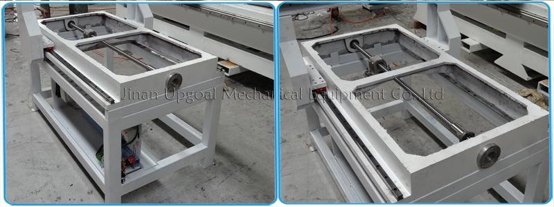 Square steel tube & cast iron machine bed