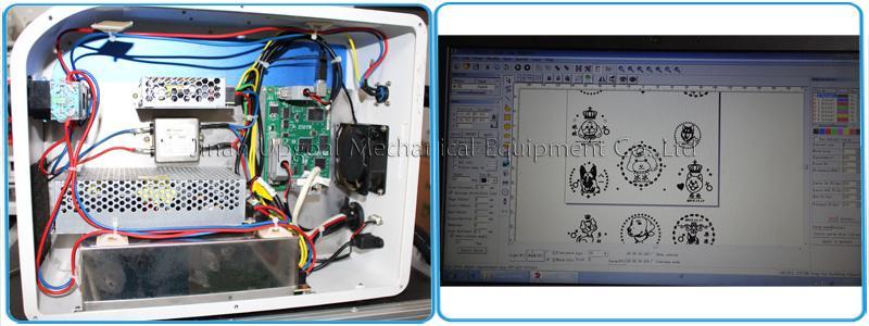 Desktop Non-Metal Materials Co2 RF Laser Marking Machine RF 30W 10