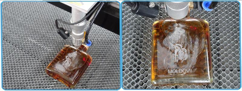 Brandy Bottle Glass Bottle Co2 Laser Engraving Machine 500*400mm 16