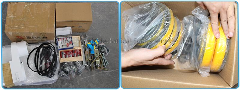 Accessories: 2 sets woodworking tools, water pump, foot pad, spanners, collets, clamp fixtures, power cable, USB cable, water tank, spared limit switches, dust hood etc.