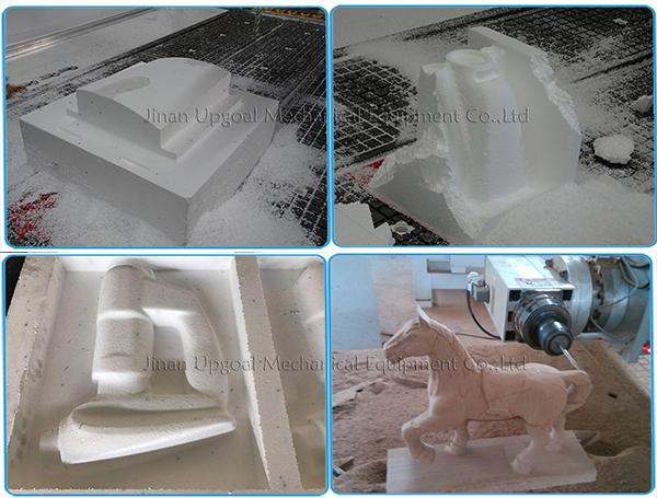 4 Axis Foam ATC CNC Router Machine with 180 degree Rotated Spindle 20