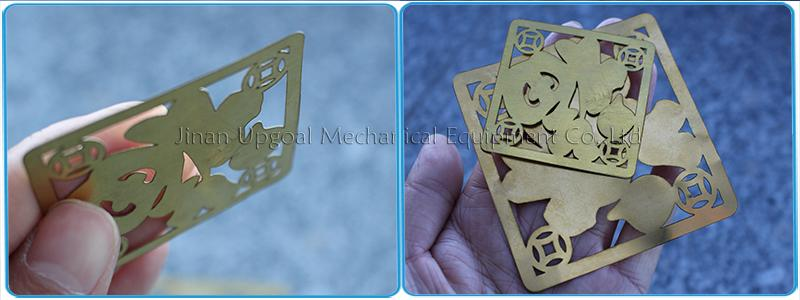 0.1/0.2mm thickness thin copper brass cutting samples