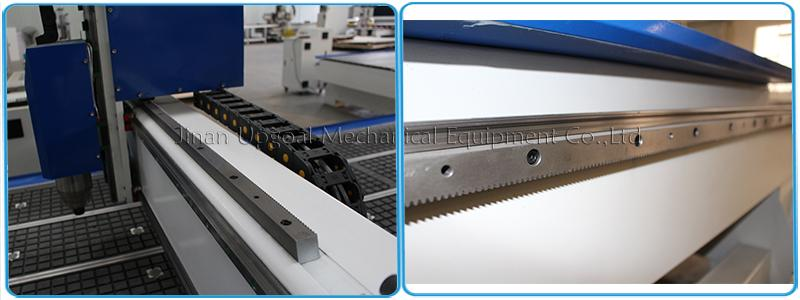 Hiwin linear square guider rail & helical rack pinion transmission
