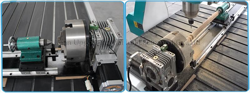 4th axis rotary axis, diameter 200mm, working length 1200mm, reduction gear transmission