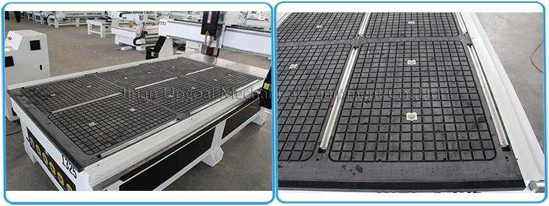 Vacuum table with aluminum alloy T slot working table/ 5.5kw air cooling vacuum pump