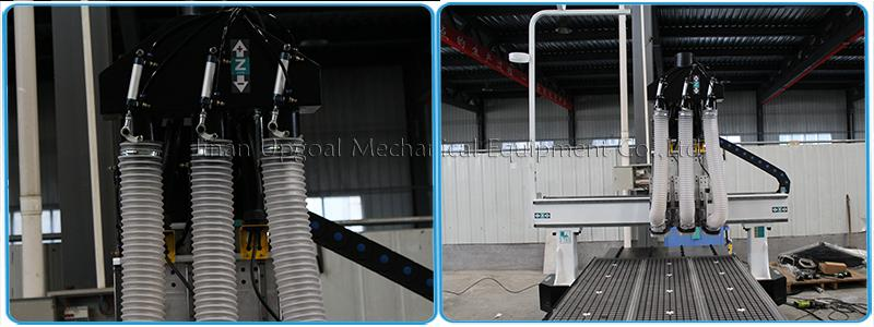 Automatic Three Tools Changer  Woodworking CNC Router Machine 1300*3000mm 12