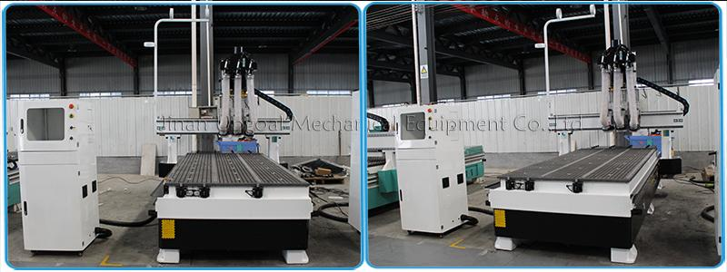 Automatic Three Tools Changer  Woodworking CNC Router Machine 1300*3000mm 7
